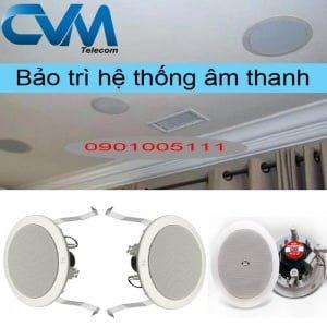 Bảo trì hệ thống âm thanh