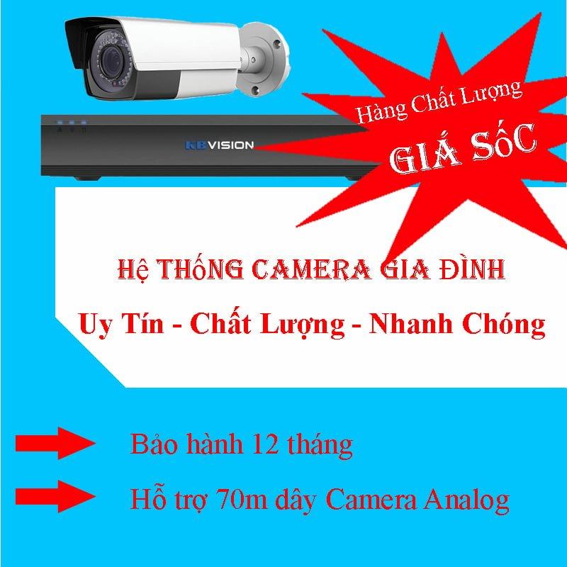 Lắp đặt hệ thống camera gia đình