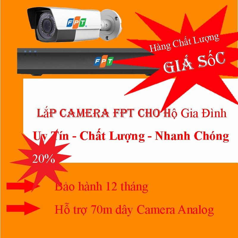Lắp đặt camera fpt cho hộ gia đình