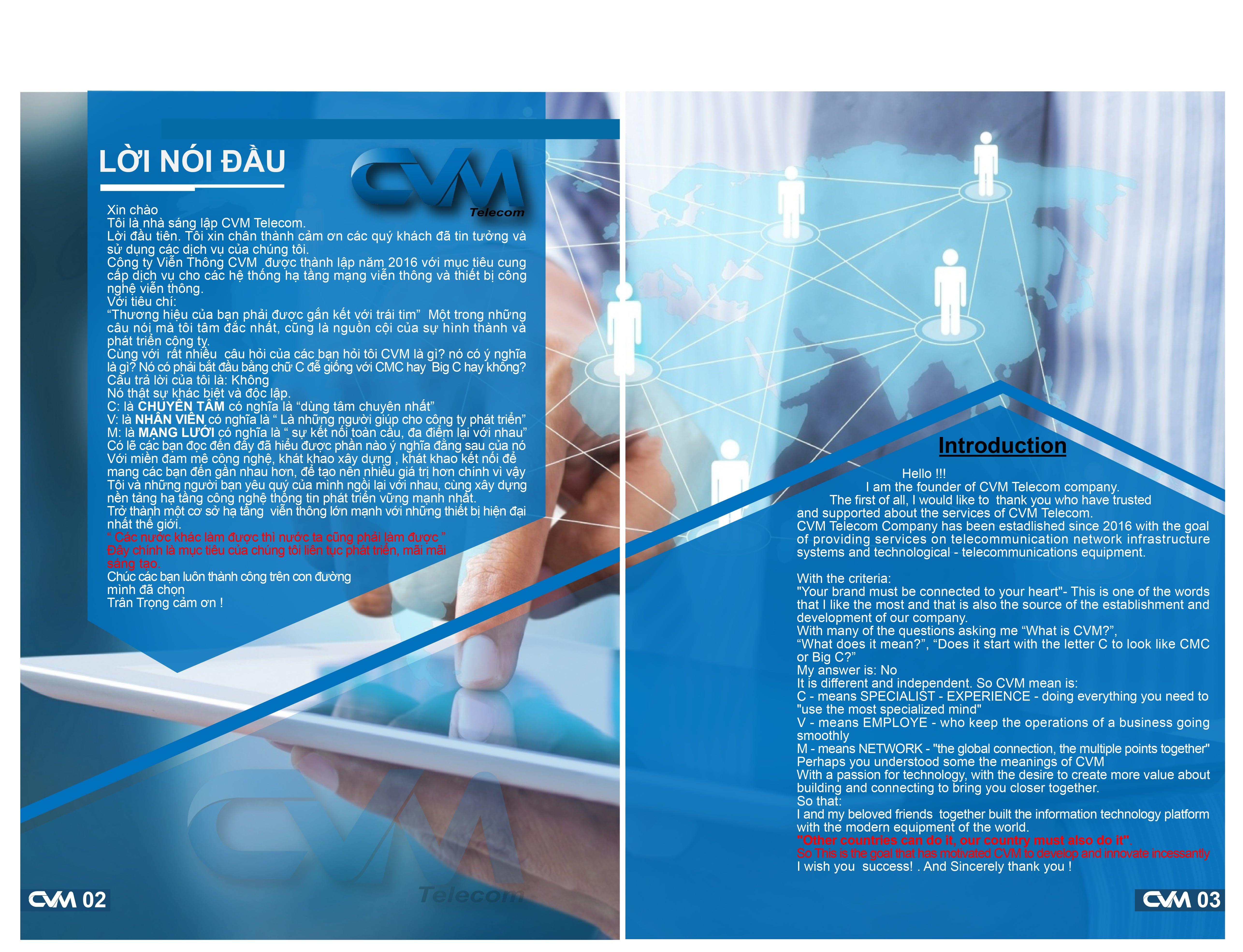 Lời Mở Đầu Công Ty CVM Telecom