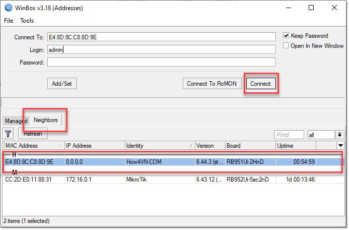 hướng dẫn cấu hình mikcrotik bằng phần mềm WinBox b1
